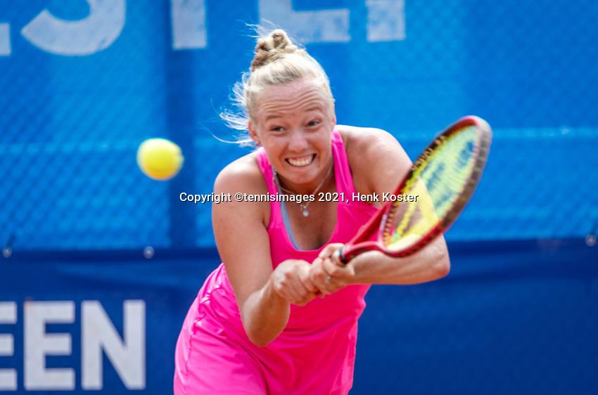 Amstelveen, Netherlands, 10 Juli, 2021, National Tennis Center, NTC, Amstelveen Womans Open, Singles final:  Yana Morderger (GER)<br /> Photo: Henk Koster/tennisimages.com