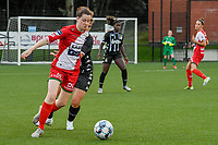 Summer Rogiers (8) of Zulte Waregem pictured during a female soccer game between Sporting Charleroi and SV Zulte-Waregem on the third matchday in the 2021 - 2022 season of Belgian Scooore Womens Super League , friday 3 September 2021 in Marcinelle , Belgium . PHOTO SPORTPIX | STIJN AUDOOREN