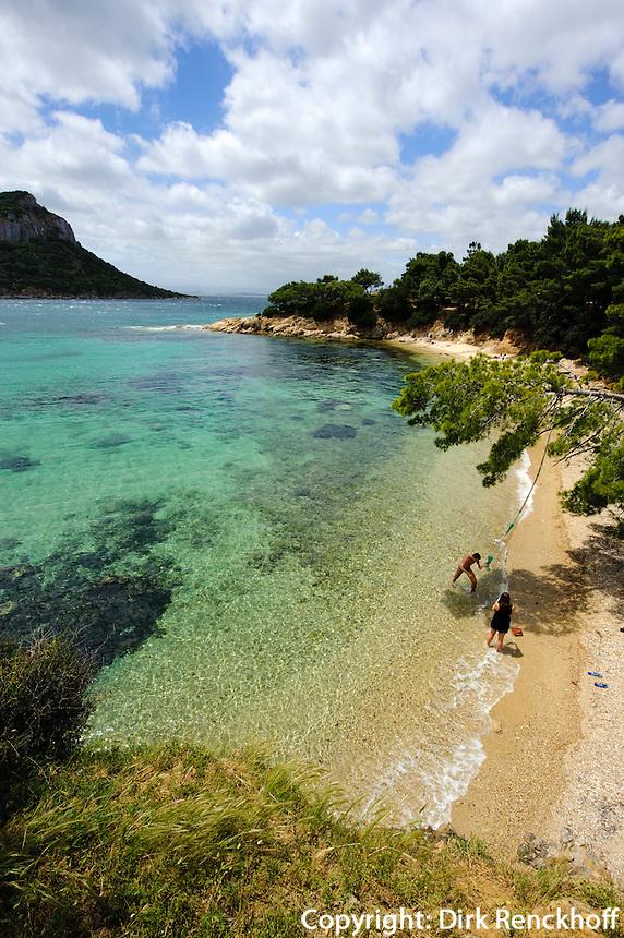 Strand Cala Moresca bei  Golfo Aranci, Gallura, Provinz Olbia-Tempio, Nord Sardinien, Italien