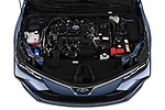 Car stock 2019 Toyota Corolla Dynamic 4 Door Sedan engine high angle detail view