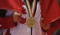 8e Jeux de la Francophonie d'Abidjan 2017 - Finales lutte - Parc des sports de Treichville - Steen du Canada est médaillé d'0R - Abidjan, Côte d'Ivoire - 24 juillet 2017
