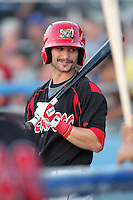 Batavia Muckdogs outfielder Adam Melker (15) during a game vs. the Williamsport Crosscutters at Dwyer Stadium in Batavia, New York July 26, 2010.   Batavia defeated Williamsport 3-2.  Photo By Mike Janes/Four Seam Images