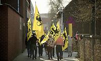 flemish lions on their way to the finish line..74th Gent-Wevelgem (2012).236km between Deinze & Wevelgem.winner 2012: Tom Boonen..