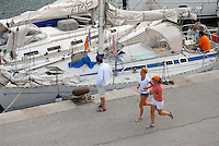 - yachts moored in the tourist harbor of Marciana Marina, Elba island....- yachts ormeggiati nel porto turistico di Marciana Marina, isola d'Elba