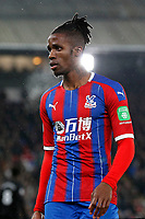 Wilfried Zaha of Crystal Palace during the Premier League match between Crystal Palace and Brighton and Hove Albion at Selhurst Park, London, England on 16 December 2019. Photo by Carlton Myrie / PRiME Media Images.