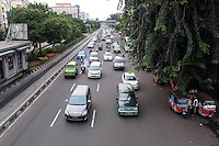 Heavy traffic in downtown Jakarta.<br /> <br /> To license this image, please contact the National Geographic Creative Collection:<br /> <br /> Image ID: 1588007 <br />  <br /> Email: natgeocreative@ngs.org<br /> <br /> Telephone: 202 857 7537 / Toll Free 800 434 2244<br /> <br /> National Geographic Creative<br /> 1145 17th St NW, Washington DC 20036