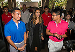 Jessica Alba arrives at the Mission Hills Celebrity Pro-Am on 23 October 2014, in Haikou, China. Photo by Aitor Alcalde / Power Sport Images