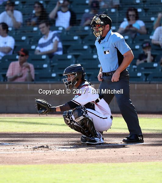 Michael Perez - Salt River Rafters - 2017 Arizona Fall League (Bill Mitchell)