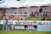Fans watch the game from the cabanas. FC Gold Pride defeated Sky Blue FC 1-0 during a Women's Professional Soccer (WPS) match at Yurcak Field in Piscataway, NJ, on May 1, 2010.