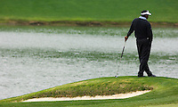 PGA golfer Vijay Singh looks out over a pond during the 2007 Wachovia Championships at Quail Hollow Country Club in Charlotte, NC.