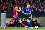 Jan Gregus (R) of FC Copenhague fights for the ball with Jorge Resurreccion Merodio, Koke, of Atletico de Madrid during the UEFA Europa League 2017-18 Round of 32 (2nd leg) match between Atletico de Madrid and FC Copenhague at Wanda Metropolitano  on February 22 2018 in Madrid, Spain. Photo by Diego Souto / Power Sport Images