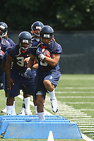 Virginia running back Mikell Simpson during open spring practice for the Virginia Cavaliers football team August 7, 2009 at the University of Virginia in Charlottesville, VA. Photo/Andrew Shurtleff