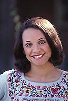 Valerie Harper during first season of her new television series, Rhoda, CBS Studios, Los Angeles, 1974.
