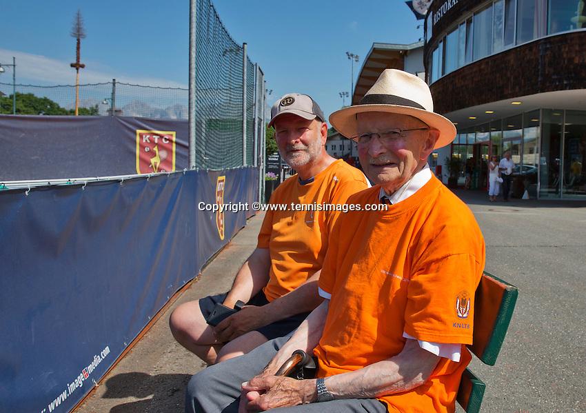 Austria, Kitzbühel, Juli 18, 2015, Tennis,  Junior Davis Cup, Opa Scheer also there<br /> Photo: Tennisimages/Henk Koster