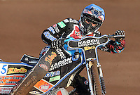 Peter Karlsson of Lakeside Hammers - Lakeside Hammers vs Wolverhampton Wolves, Elite League Speedway at the Arena Essex Raceway, Pufleet - 04/07/14 - MANDATORY CREDIT: Rob Newell/TGSPHOTO - Self billing applies where appropriate - 0845 094 6026 - contact@tgsphoto.co.uk - NO UNPAID USE