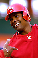16 June 2006: Jose Guillen, right fielder for the Washington Nationals, stands outside the batting cage prior to a game against the New York Yankees at RFK Stadium, in Washington, DC. The Yankees defeated the Nationals 7-5 in the first meeting of the two franchises...Mandatory Photo Credit: Ed Wolfstein Photo...