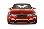 Car photography straight front view of a 2018 BMW M3 4 Door Sedan Front View