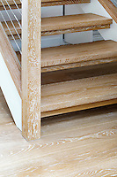 Wooden step stairs