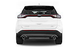 Straight rear view of 2015 Ford Edge Titanium 5 Door SUV Rear View  stock images