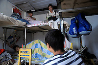 Young boxers in their their dorm where they live, near Huili Middle School in Sichuan Province, China. The group of young boxers are hoping to make it to become some of China's first professional boxers. ..PHOTO BY SINOPIX