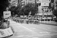 peloton in the streets of Madrid<br /> <br /> stage 21: Alcala de Henares - Madrid (98km)<br /> 2015 Vuelta à Espana