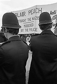 Protest in Hyde Park following the death of school teacher Blair Peach as the result of police action during an anti-racism demonstration in Southall, London.