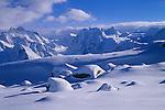 Mont Collon (3637m) and Evêque (3716m) from Aiguilles Rouges d'Arolla, Valais, Switzerland, 2002
