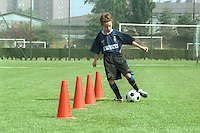 futuri campioni di calcio nei campus estivi di Inter e Milan