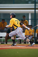 Pittsburgh Pirates Austin Meadows (79) during an instructional league intrasquad black and gold game on September 18, 2015 at Pirate City in Bradenton, Florida.  (Mike Janes/Four Seam Images)