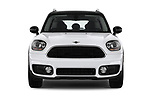 Car photography straight front view of a 2018 MINI Countryman 5-Door 5 Door Hatchback Front View