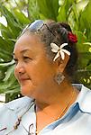 Mature hawaiian native woman, Kona Village, Hawaii