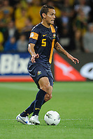 Jade NORTH (5) of Australia controls the ball during the FIFA 2014 World Cup Group D Asian Qualifier match between Australia and Saudi Arabia at AAMI Park in Melbourne, Australia...This image is not for sale on this web site. Please contact Southcreek Global Media for licensing:.Toll Free: 1.800.934.5030.Canada: 701 Rossland Rd. East, Suite 315, Whitby, Ontario, Canada, L1N 9K3.USA: 10792 Baron Dr, Parma OH, USA 44130.Web: http://southcreekglobal.net/ and http://southcreekglobal.com/