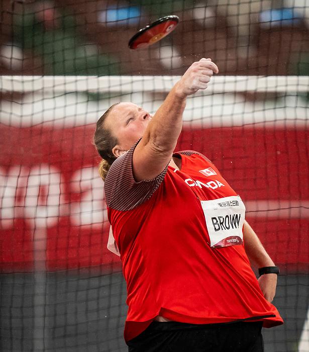 Jennifer Brown, Tokyo 2020 - Para Athletics // Para-athlétisme.<br /> Jennifer Brown competes in the women's discus throw F38 final // Jennifer Brown participe à la finale féminine du lancer du disque F38. 04/09/2021.