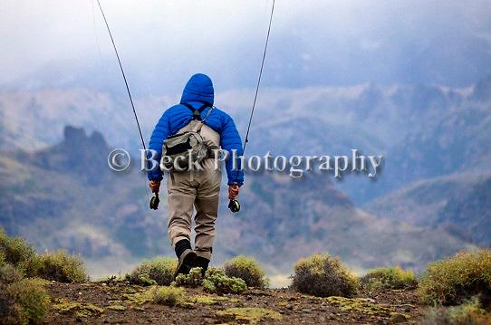 Rio Malleo in Patagonia, the walk in