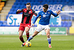 St Johnstone v St Mirren……29.08.20   McDiarmid Park  SPFL<br />Craig Conway battles with Dylan Connolly<br />Picture by Graeme Hart.<br />Copyright Perthshire Picture Agency<br />Tel: 01738 623350  Mobile: 07990 594431