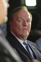 President of the Canadian Olympic Committee Marcel Aubut<br />  atttend the Olympic Excellence Day News conference  on May 7, 2015<br /> <br /> Aubut resigned as President of the COC on October 3, 2015 after allegations of sexual harassment.<br /> <br /> PHOTO : Pierre Roussel - Agence Quebec Presse