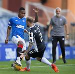 Rangers v St Mirren: Alfredo Morelos with Richard Tait