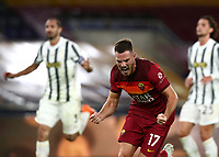 Football, Serie A: AS Roma - Juventus, Olympic stadium, Rome, September 27, 2020. <br /> Roma's Jordan Veretout celebrates after scoring his first goal in the match during the Italian Serie A football match between Roma and Juventus at Olympic stadium in Rome, on September 27, 2020. <br /> UPDATE IMAGES PRESS/Isabella Bonotto