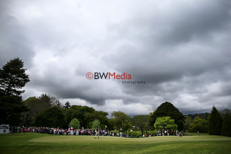 during the Asia Pacific Amateur Golf Championship Round Four, Royal Wellington Golf Course, Wellington, New Zealand, 29 October2017.  Photo: Simon Watts/www.bwmedia.co.nz