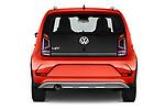 Straight rear view of a 2018 Volkswagen Up Cross Up 5 Door Hatchback stock images
