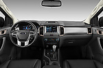 Stock photo of straight dashboard view of 2018 Ford Ranger Limited-Black-Edition 4 Door Pick-up Dashboard