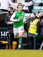 20th February 2021; Easter Road, Edinburgh, Scotland; Scottish Premiership Football, Hibernian versus Hamilton Academical; Scott Allan of Hibernian comes on late in the game