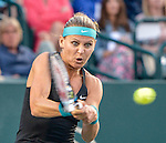 Lucie Safarova (CZE) defeats Samantha Stosur (AUS) 3-6, 6-4, 6-4 at the Family Circle Cup in Charleston, South Carolina on April 3, 2014.