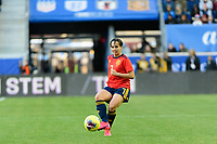 HARRISON, NJ - MARCH 08: Marta Corredera #7 of Spain during a game between Spain and USWNT at Red Bull Arena on March 08, 2020 in Harrison, New Jersey.