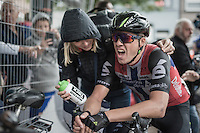Edvald Boasson Hagen (NOR/Dimension Data) is gasping for air after winning the final stage into Geraardsbergen<br /> <br /> 12th Eneco Tour 2016 (UCI World Tour)<br /> Stage 7: Bornem › Geraardsbergen (198km)