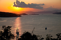 Sunset from Maho Bay Campground<br />