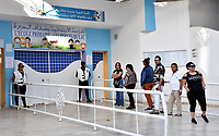 TUNIS, TUNISIA - OCTOBER 13: Tunisians voters wait in line to cast their ballot at a polling station in Tunis, Tunisia on October 13, 2019 during the second round of the presidential election.