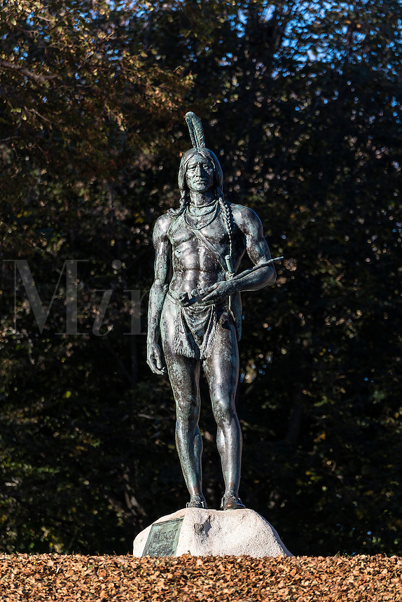 The Great Sachem is the native American from the Wampanoag nation who helped the first pilgrims who landed in Plymouth, Massachusetts, USA