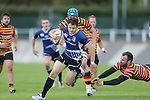 Leinster wing Sam Coghlan-Murray cuts his way through the Quins defence to score a try.<br /> British & Irish Cup<br /> Carmarthen Quins v Leinster A<br /> Carmarthen Park<br /> 25.10.14<br /> ©Steve Pope-SPORTINGWALES