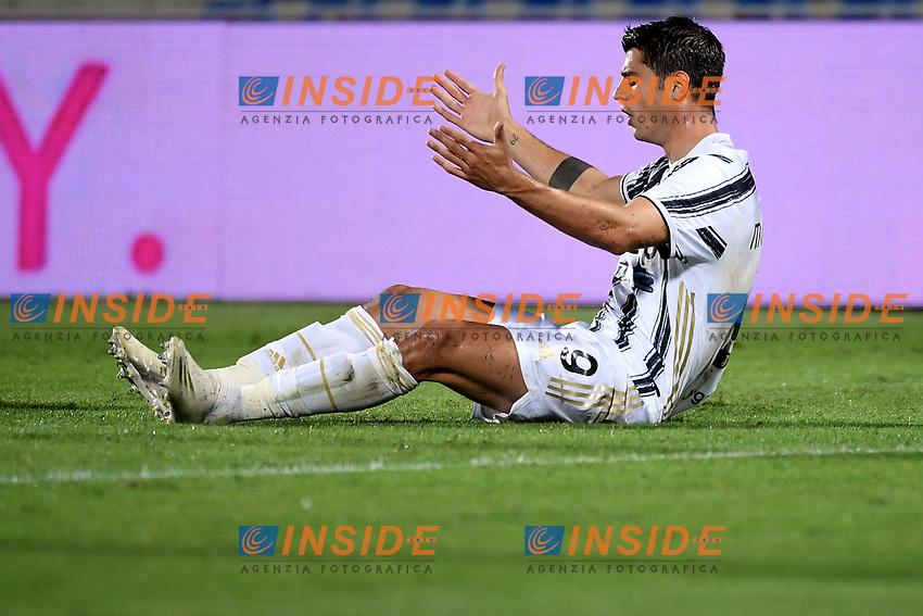 Alvaro Morata of Juventus FC reacts during the Serie A football match between FC Crotone and Juventus FC at stadio Ezio Scida in Crotone (Italy), October 17th, 2020. Photo Federico Tardito / Insidefoto